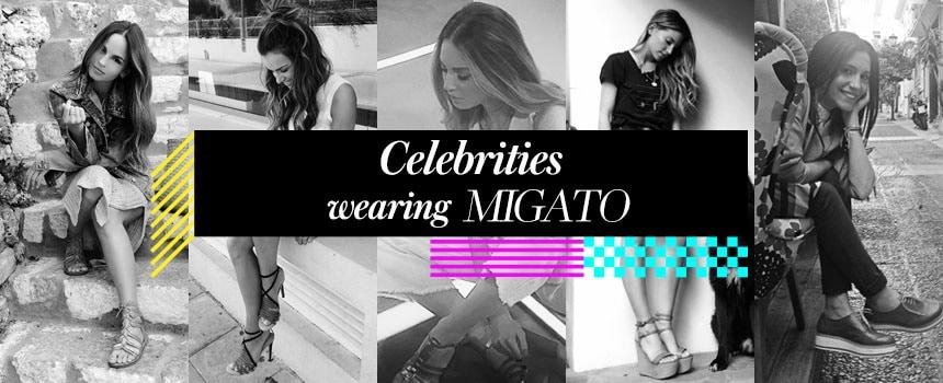 Celebrities wearing MIGATO!