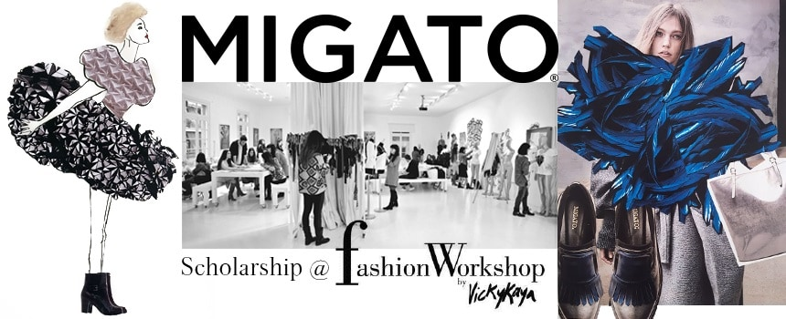 The winners of the MIGATO scholarship at Fashion Workshop