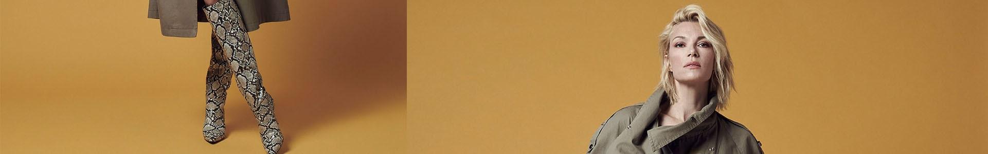 ΜΠΟΤΕΣ - Μαύρο - Λευκό - Ατσαλί - Ύφασμα - Νούμερο 36