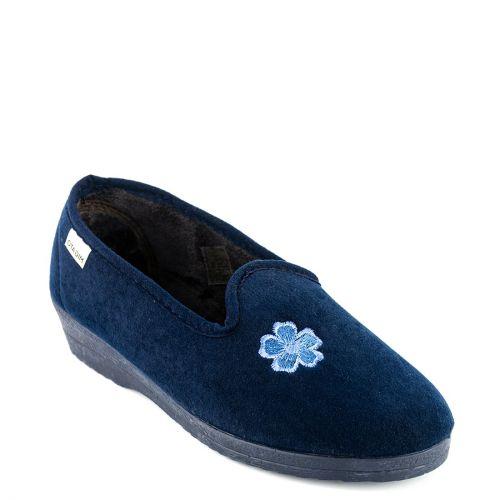 Blue slipper with flower