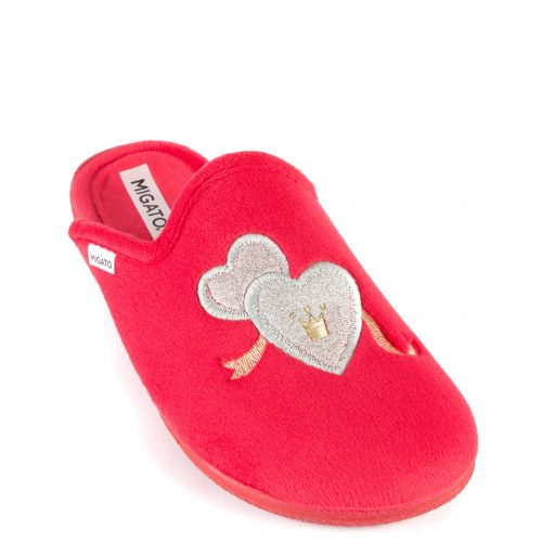 Red slipper with hearts