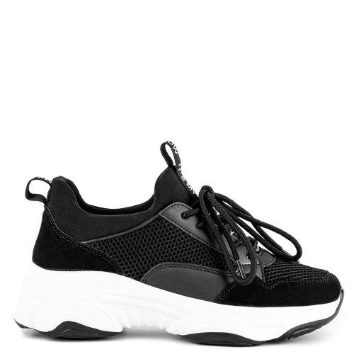 Black fabric sneaker