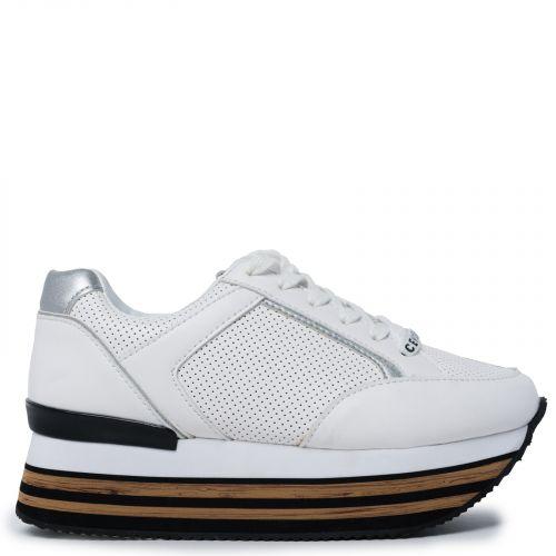 Λευκό sneaker με πλατφόρμα