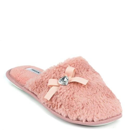 Pink furry slippers