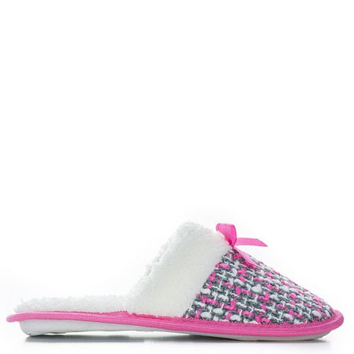 Pink slipper with bow