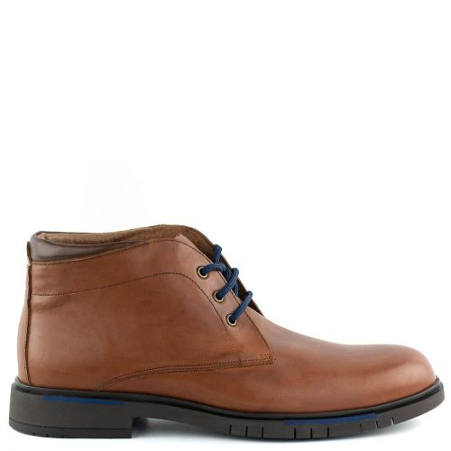 Men's leather tobacco low cut boot