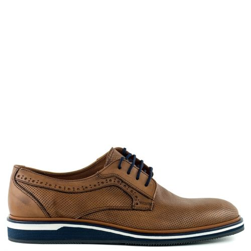 Men's tobacco leather oxford