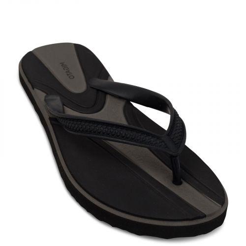 Men's black flip-flop