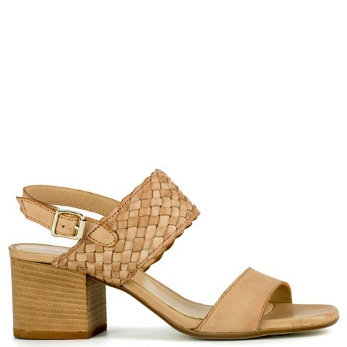 Beige leather sandal