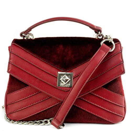 Bordeaux handbag with flap