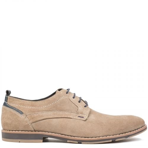 Men's taupe leather Oxford