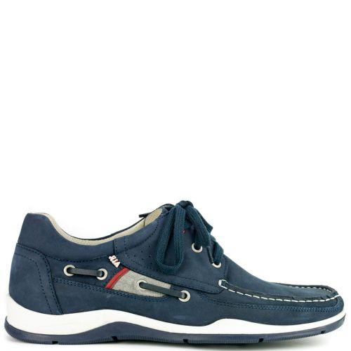 Δερμάτινο μπλέ boat shoe