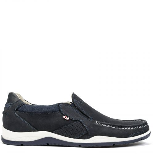 Men's blue moccasin