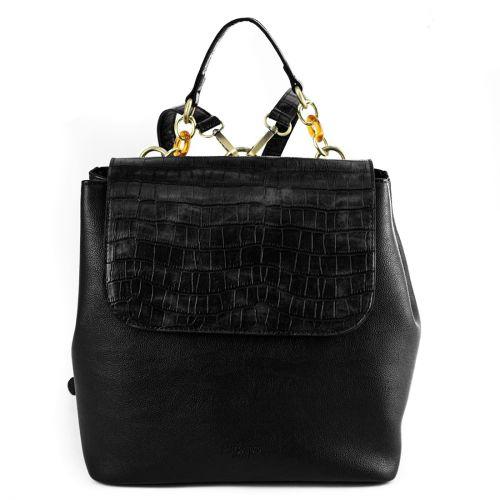 Μαύρη κροκο τσάντα πλάτης