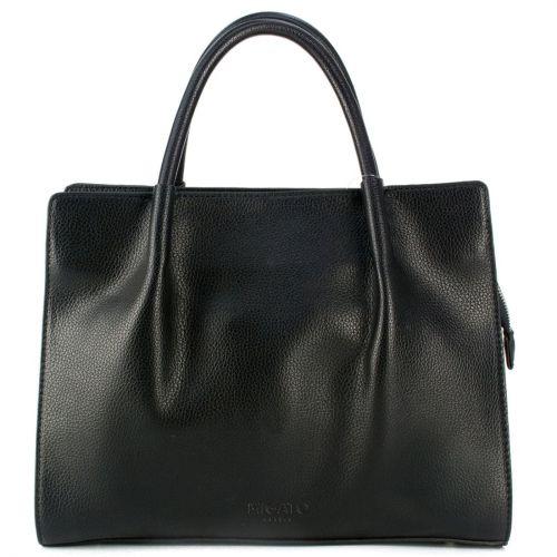 Μαύρη τσάντα με πολύχρωμες λεπτομέρειες