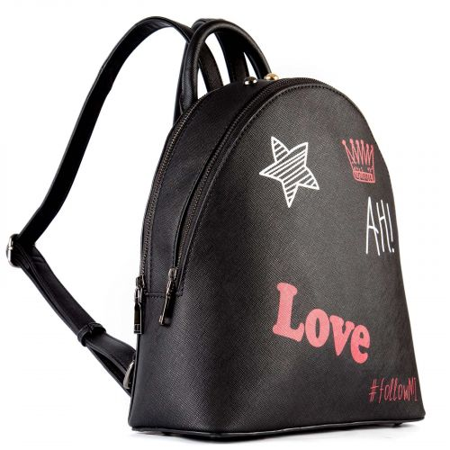 #followMI backpack with decorative prints