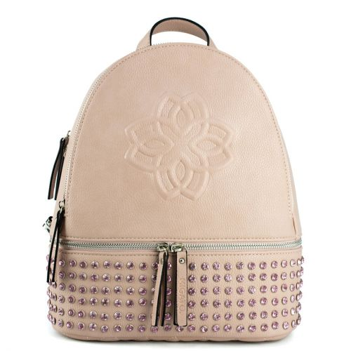 Nude backpack with decorative rhinestones