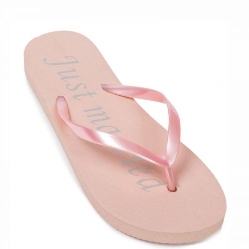 Pink flip flop with print