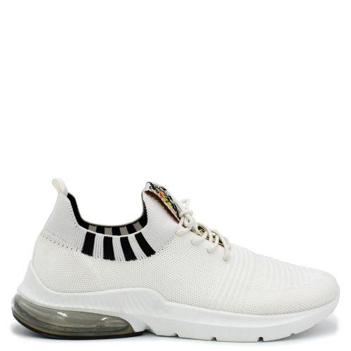 White elastic sneaker