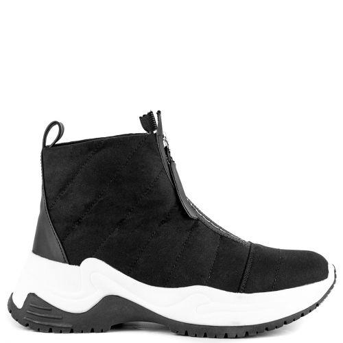 Black sneaker boot
