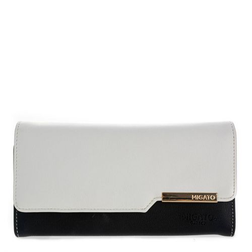 Black & white wallet with flap