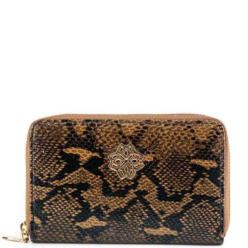 Πορτοφόλι καφέ φίδι