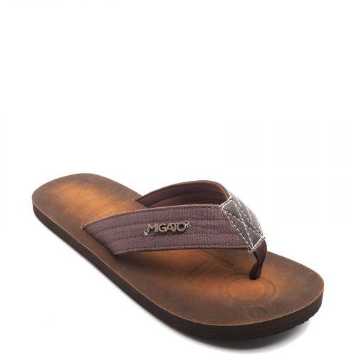 Men's brown flip-flop