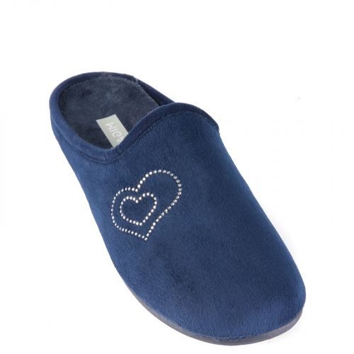 Blue slipper with hearts