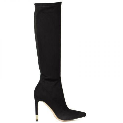 Black high heel boot