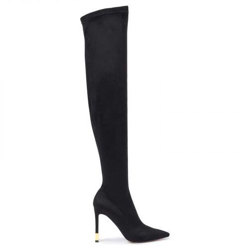 Μαύρη μπότα  πάνω από το γόνατο