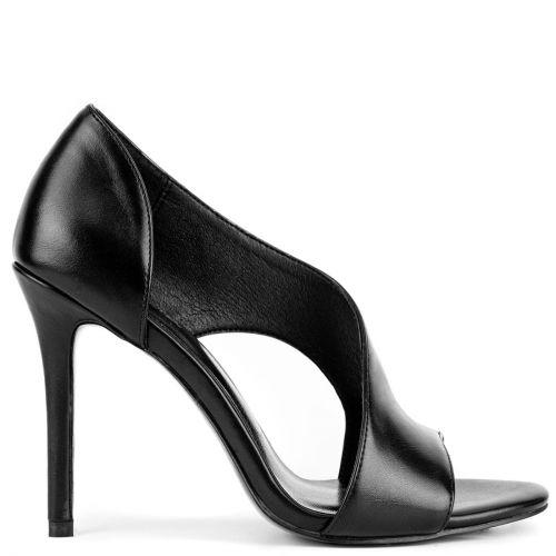 Μαύρο ψηλοτάκουνο πέδιλο