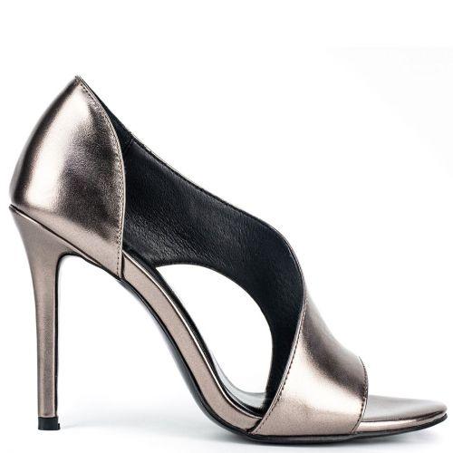 Pewter high heel sandal