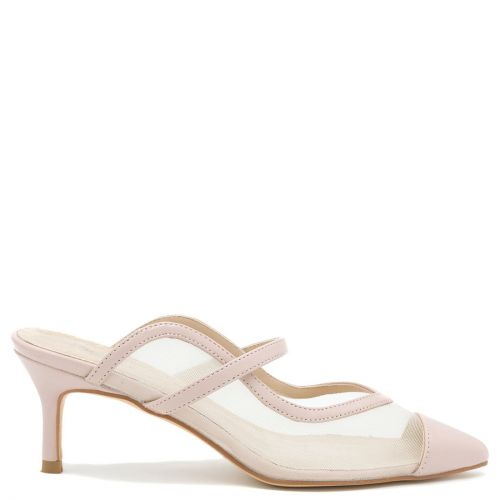 Beige mule with net
