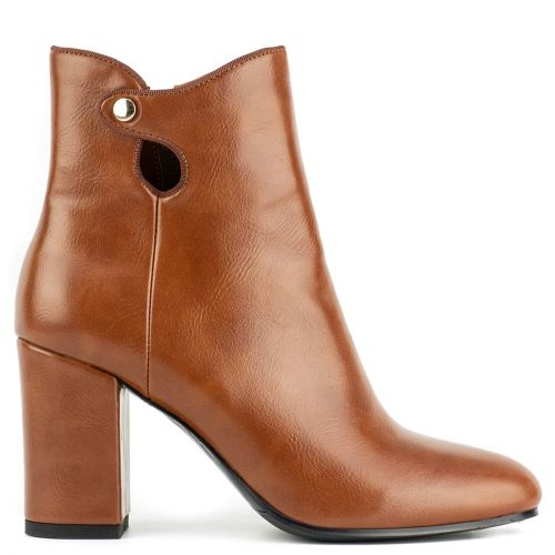 Tabacco high heel bootie