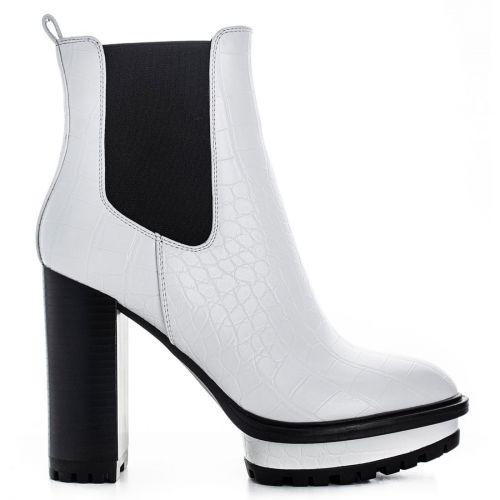 White high heel bootie