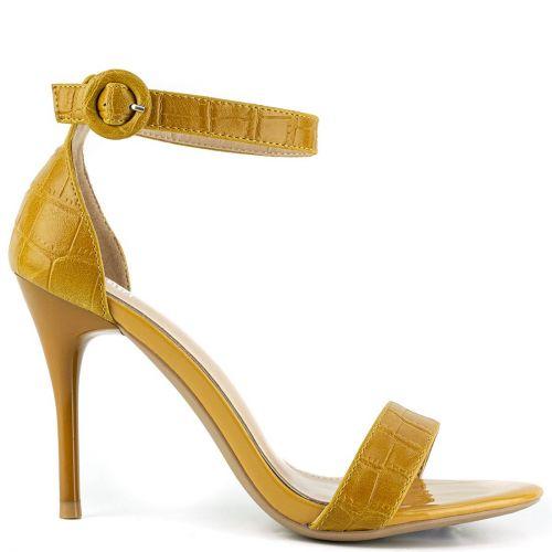 Yellow croc sandal