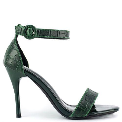 Green croc sandal