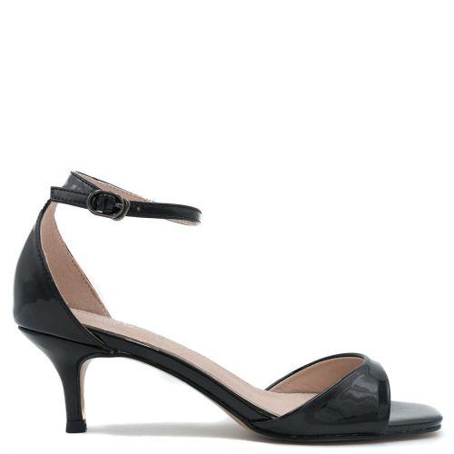 Black patent sandal