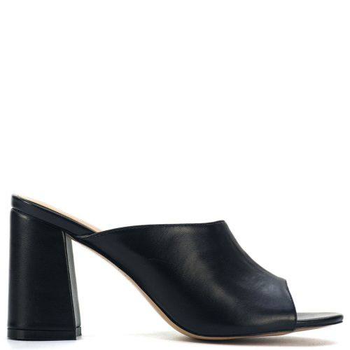 Black high heel mule