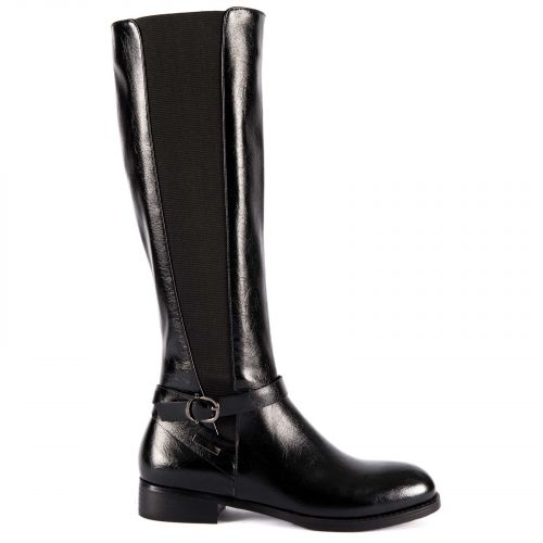 Black riding boot with buckle