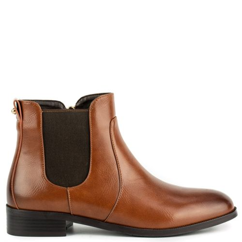 Tabacco low cut bootie