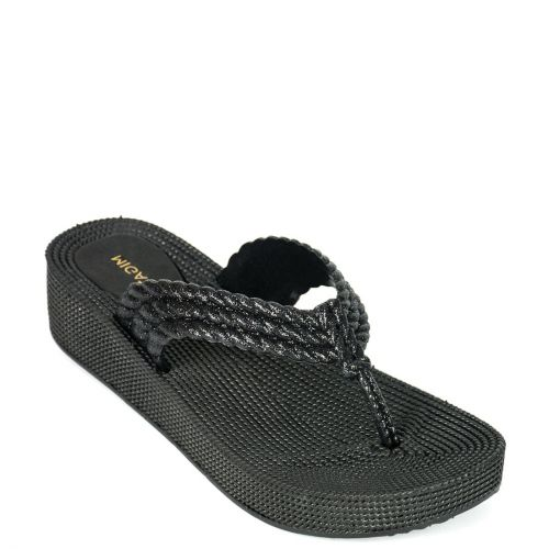 Black flip-flop with platfrom