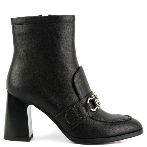 Black bootie with buckle