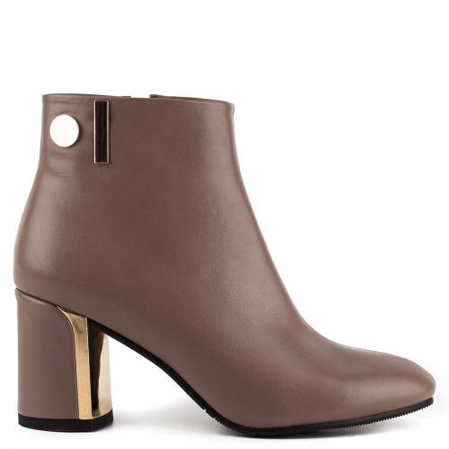 Taupe high heel bootie
