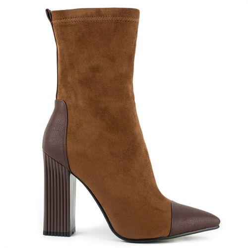 Brown high heel bootie