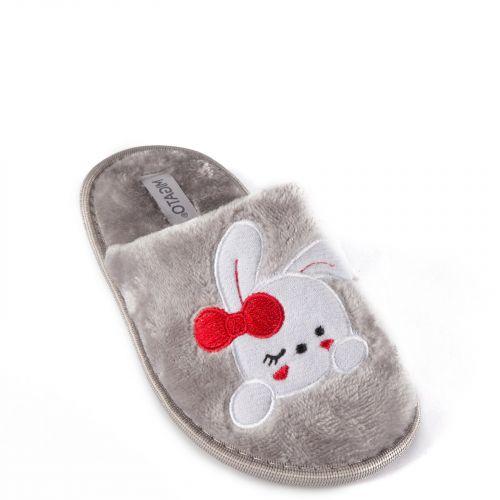 Kid's grey slipper with bunny