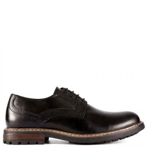 Men's black leather Oxford