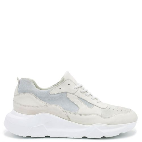 Men's white leather casual shoe