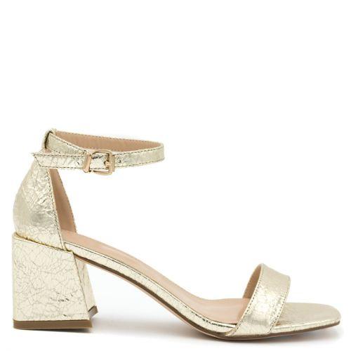 Gold metallic sandal