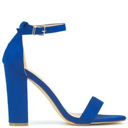Royal blue sandal in suede
